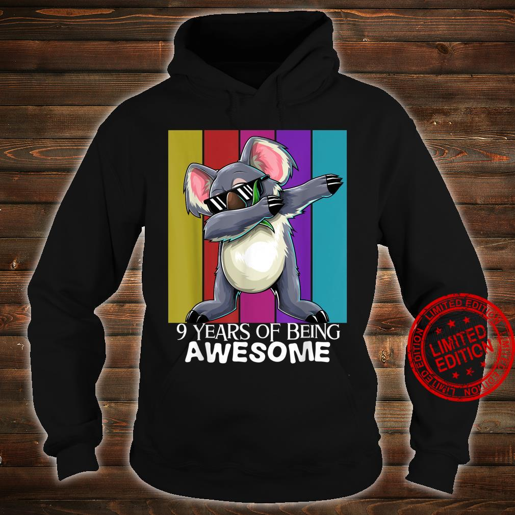 9 Years of Being Awesome 9th Birthday Boys Girls Shirt hoodie