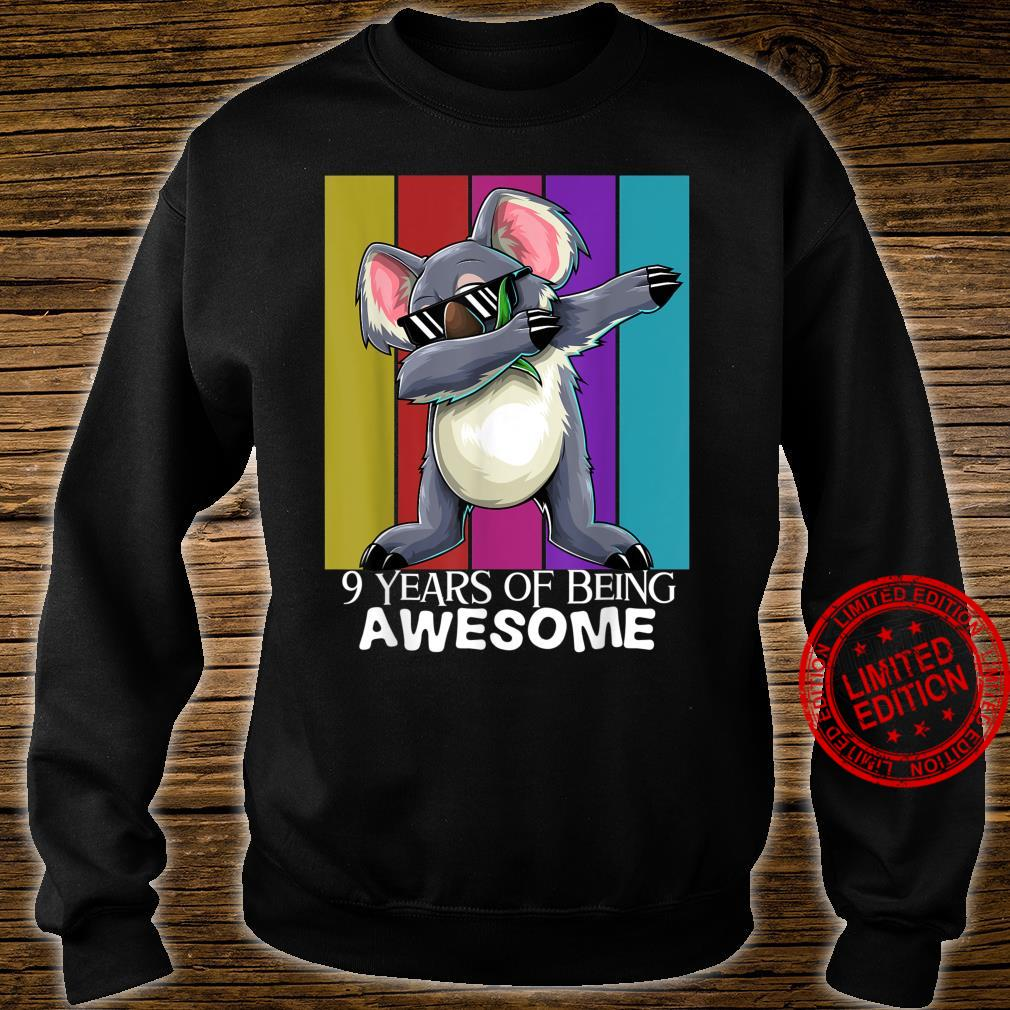 9 Years of Being Awesome 9th Birthday Boys Girls Shirt sweater