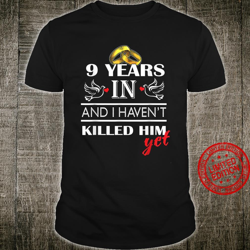 9st 9 Years Wedding Anniversary for her, Him, couples Shirt