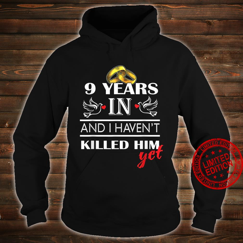 9st 9 Years Wedding Anniversary for her, Him, couples Shirt hoodie