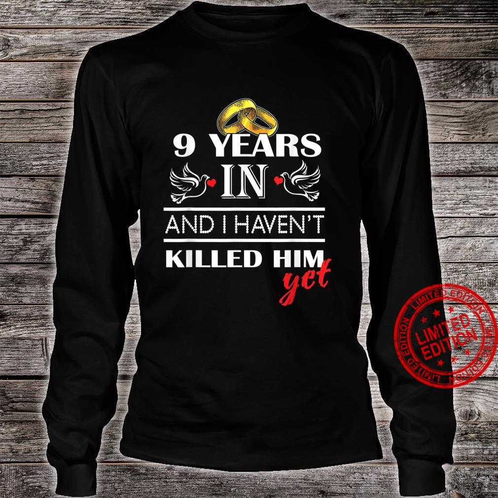 9st 9 Years Wedding Anniversary for her, Him, couples Shirt long sleeved