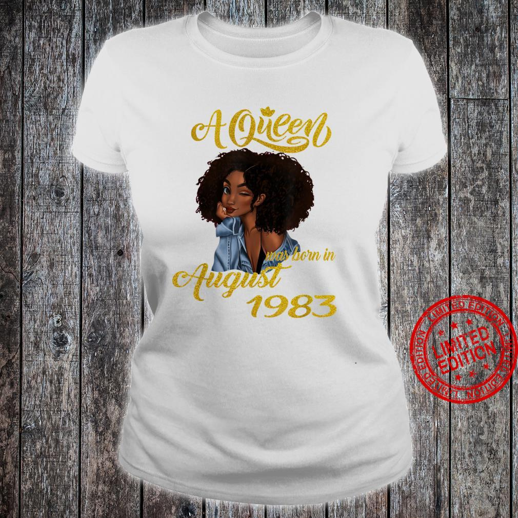A Queen Was Born in August 1983 37th Birthday Shirt ladies tee