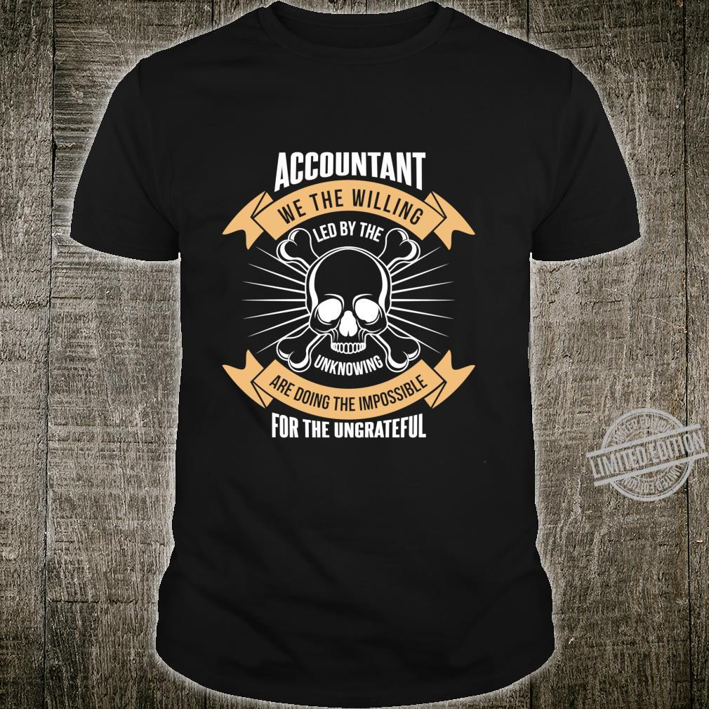 Accountant Skull bones Gift work Father man Shirt