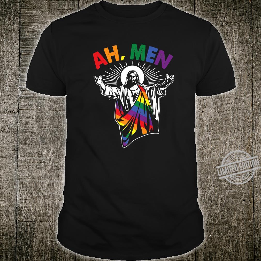 Alaska LGBT Gay Pride Rainbow White Adult Tank Top