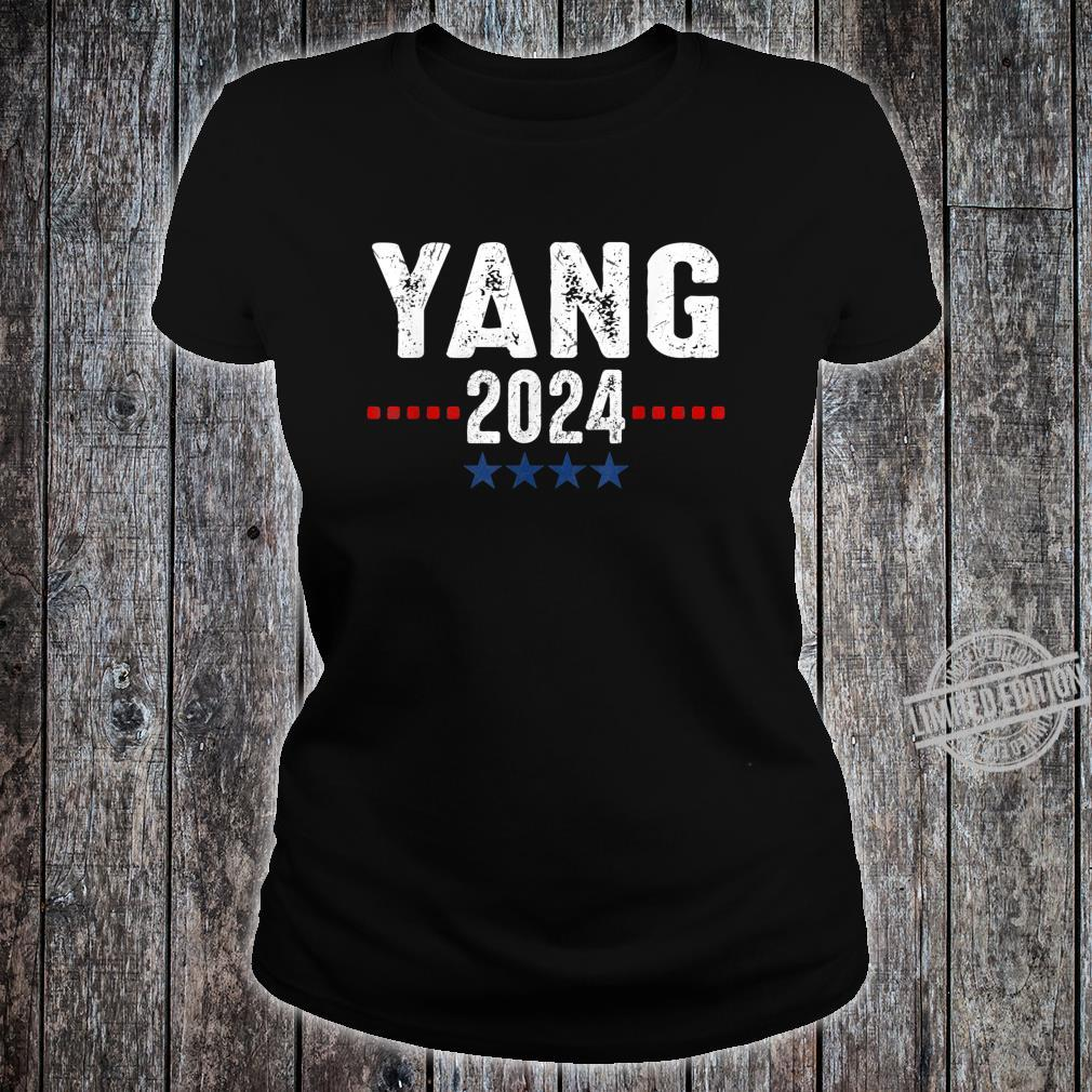 Andrew Yang 2024 Presidential Election Political Costume Shirt ladies tee