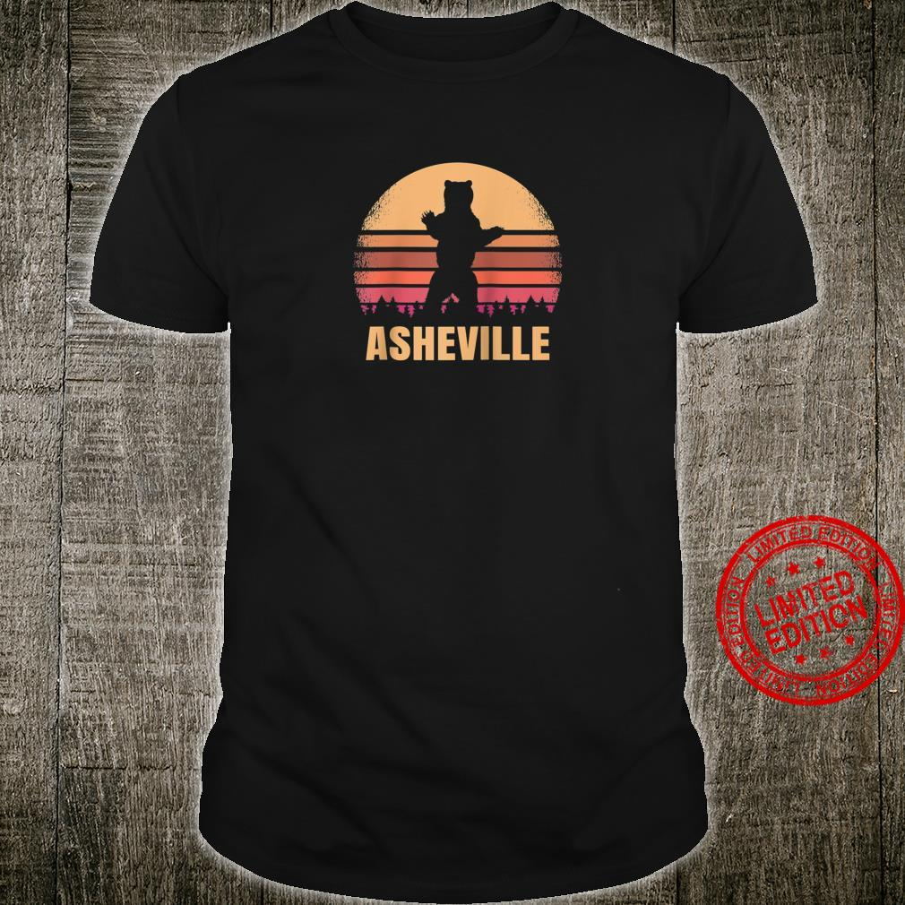 Asheville North Carolina Vintage Bear NC Distressed Sunset Shirt