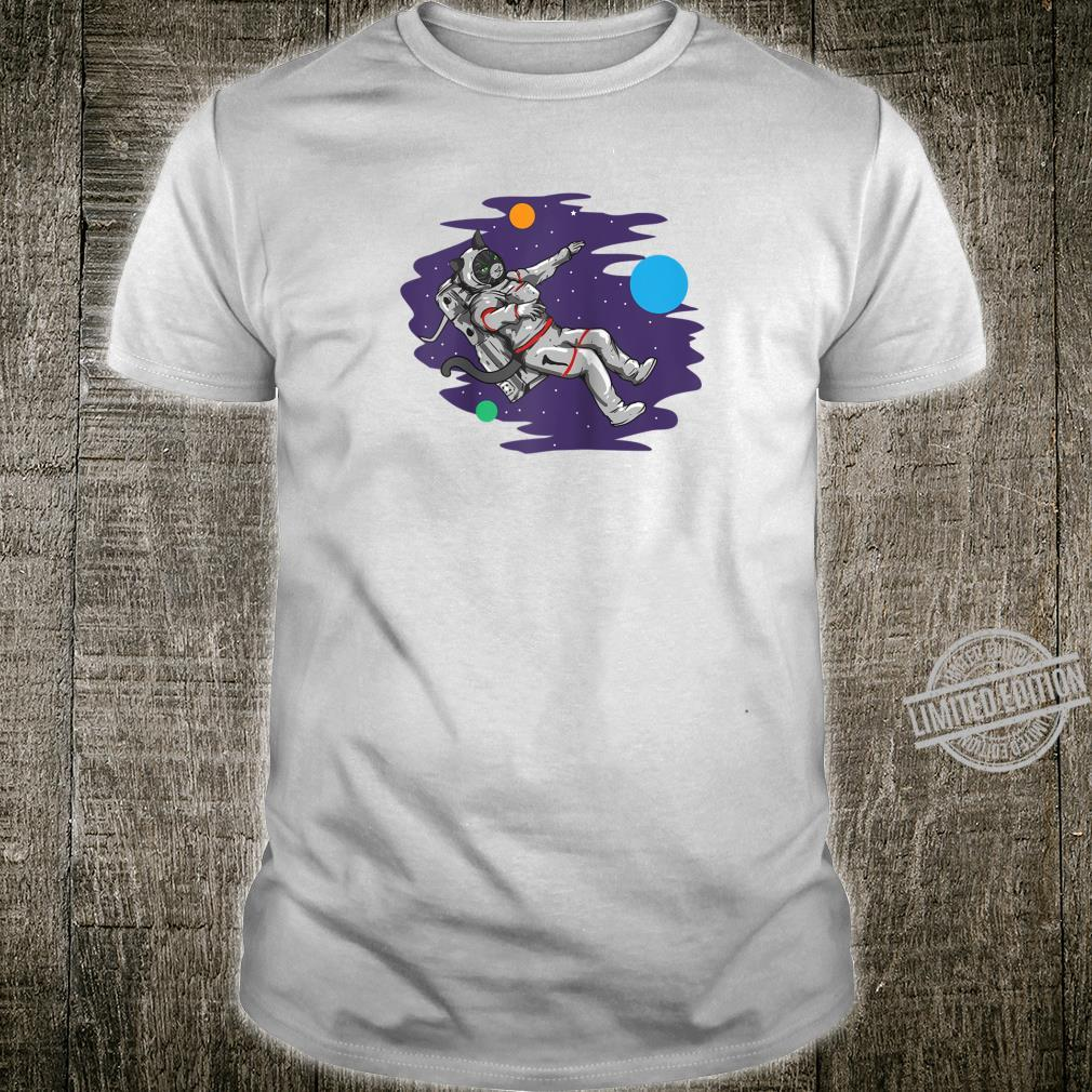 Astronaut Cat Space Astronomy Shirt