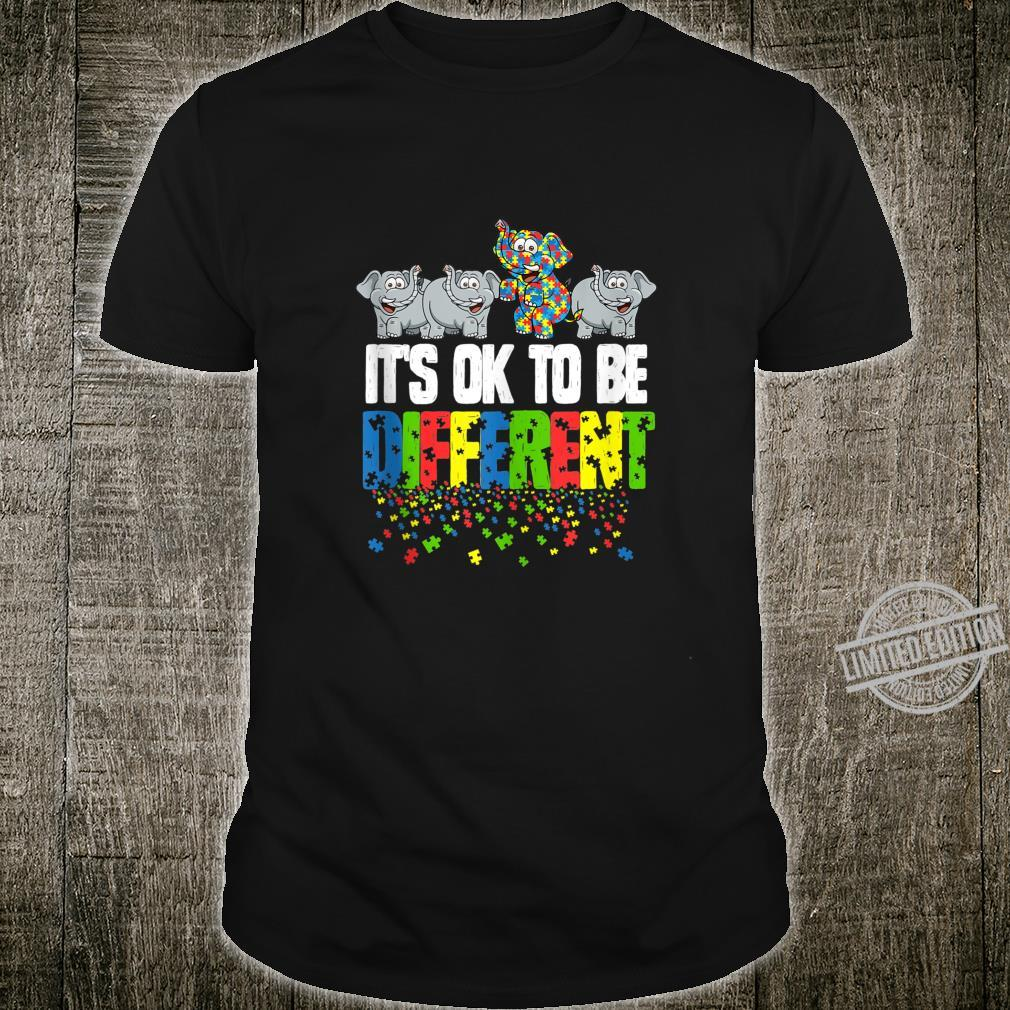 Autism Awareness Day Elephant, It's Ok To Be Different Shirt
