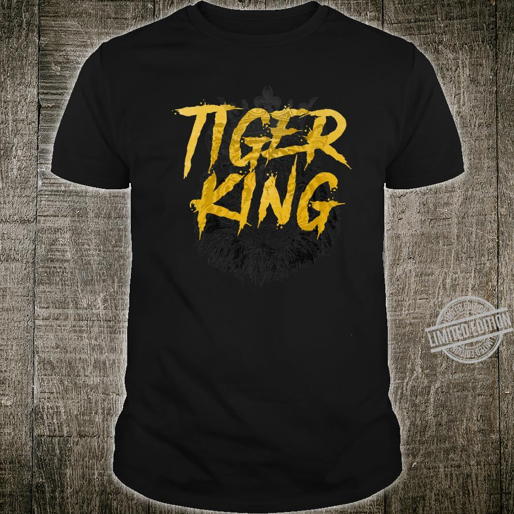 Awesome Distressed Exotic Tiger King Shirt
