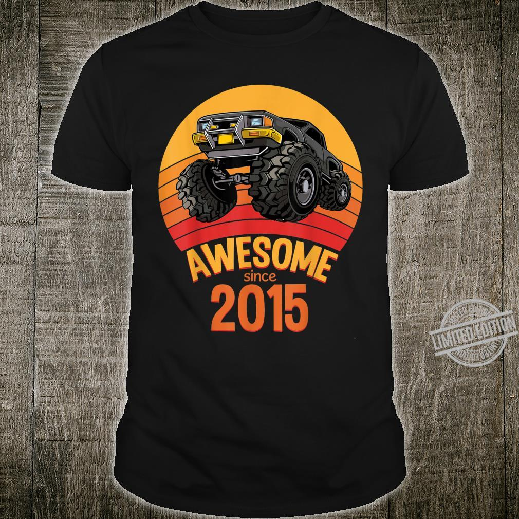 Awesome Since 2015 Birthday Boy 5 Years Old Monster Truck Shirt