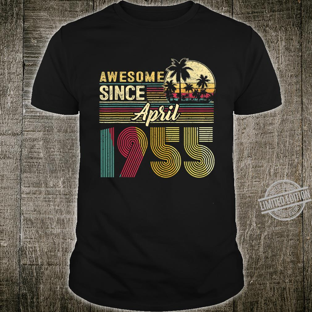 Awesome Since April 1955 1955 Years Old Birthday Shirt