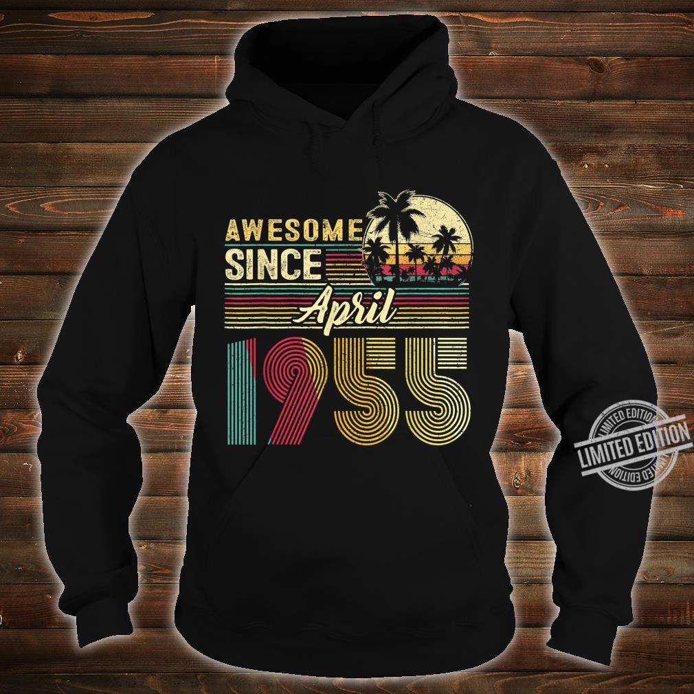 Awesome Since April 1955 1955 Years Old Birthday Shirt hoodie
