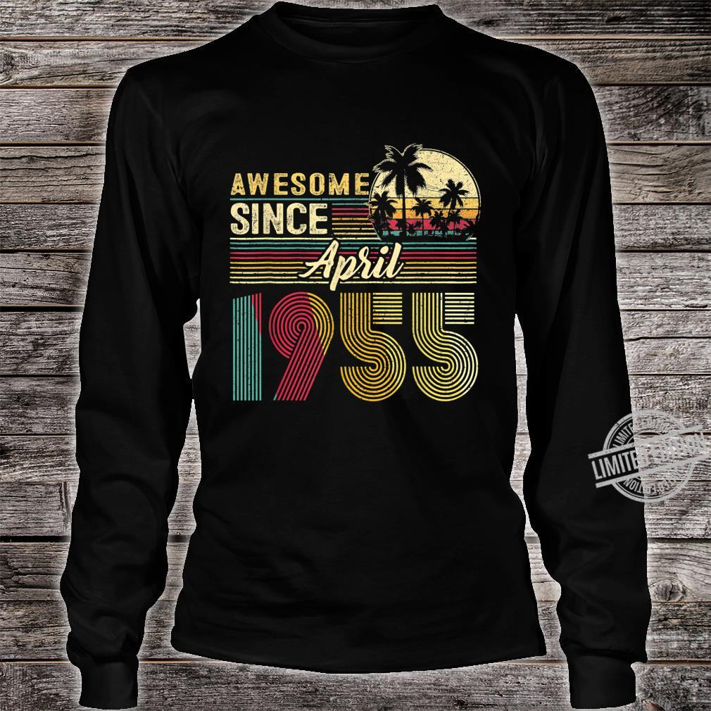 Awesome Since April 1955 1955 Years Old Birthday Shirt long sleeved
