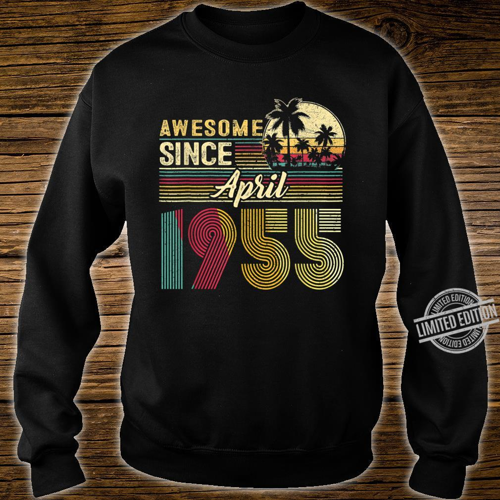 Awesome Since April 1955 1955 Years Old Birthday Shirt sweater