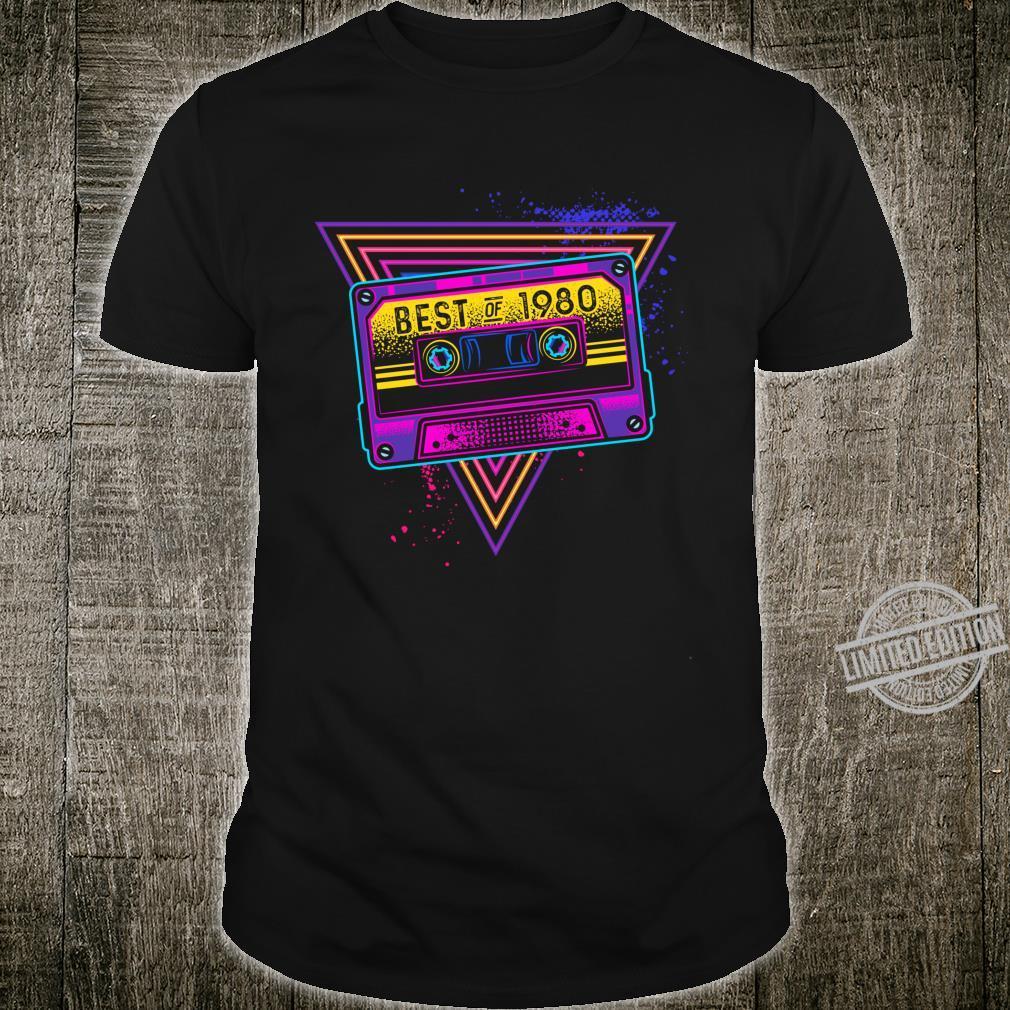 Best Of 1980 40. Geburtstag Geschenke Kassette Vintage Langarmshirt Shirt