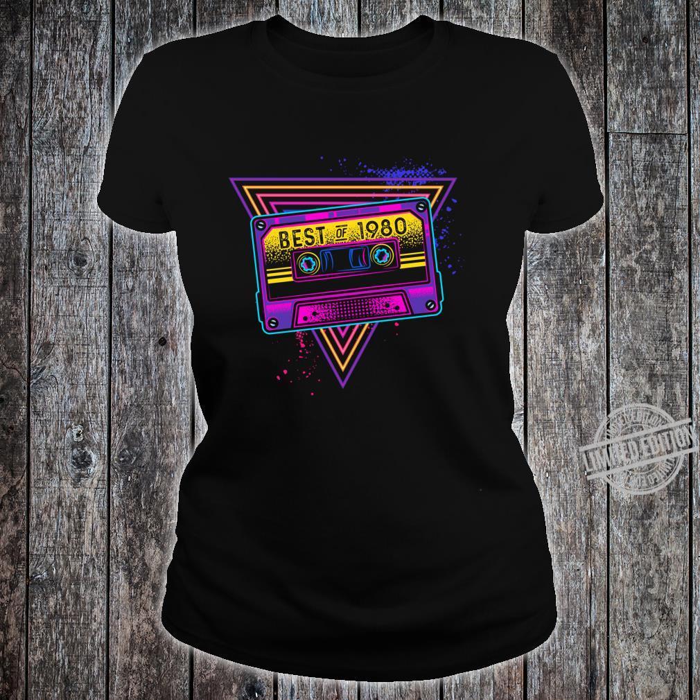 Best Of 1980 40. Geburtstag Geschenke Kassette Vintage Langarmshirt Shirt ladies tee