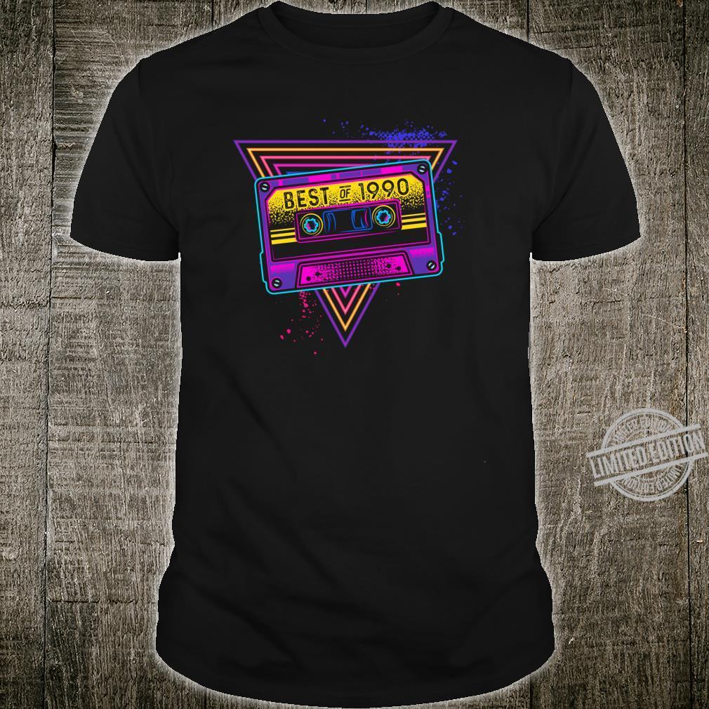 Best Of 1990 30. Geburtstag Geschenke Kassette Vintage Shirt