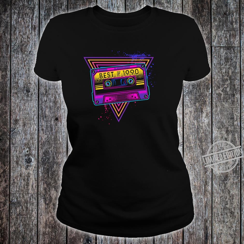 Best Of 1990 30. Geburtstag Geschenke Kassette Vintage Shirt ladies tee