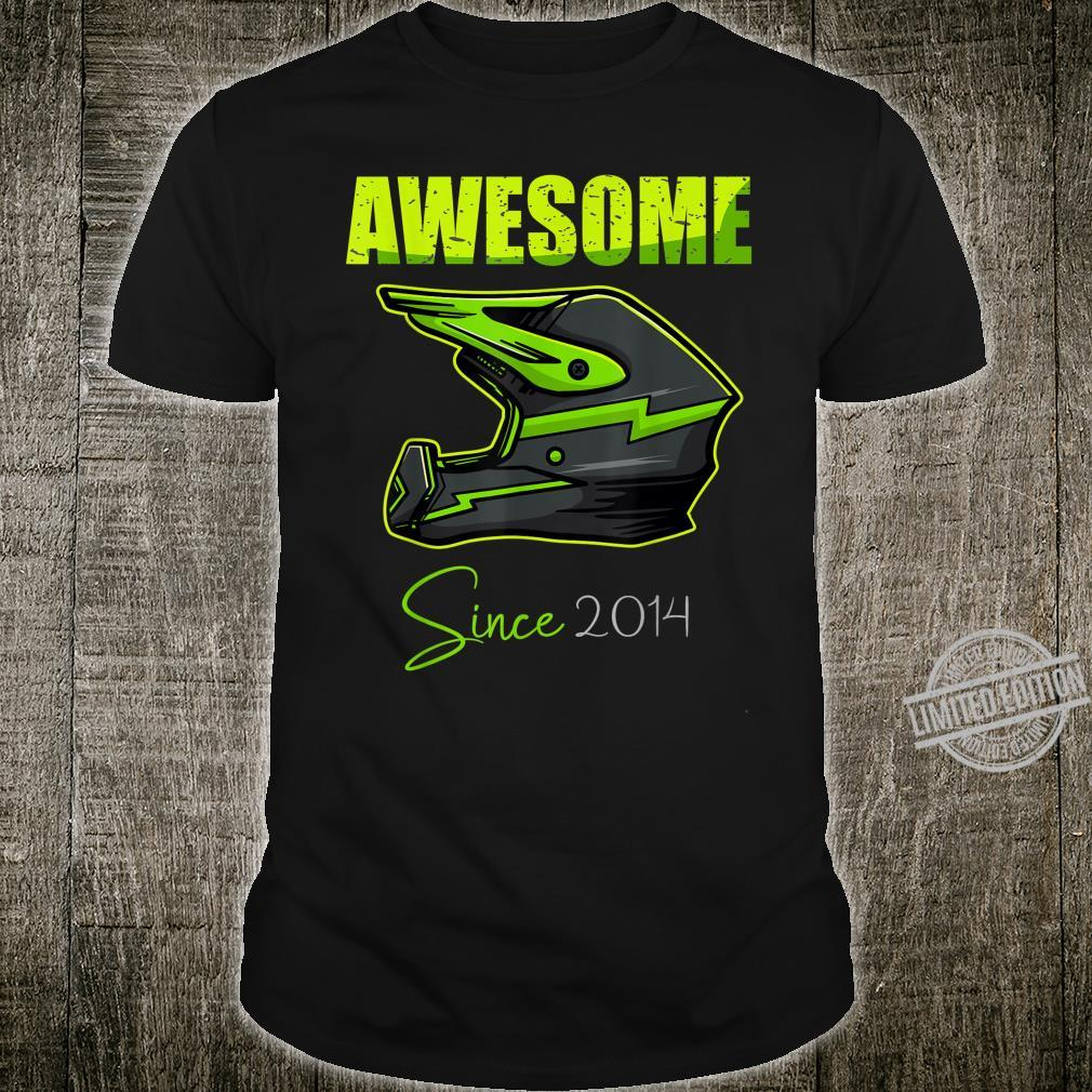 Birthday Boy Awesome Since 2014 6 Years Old motocross Shirt