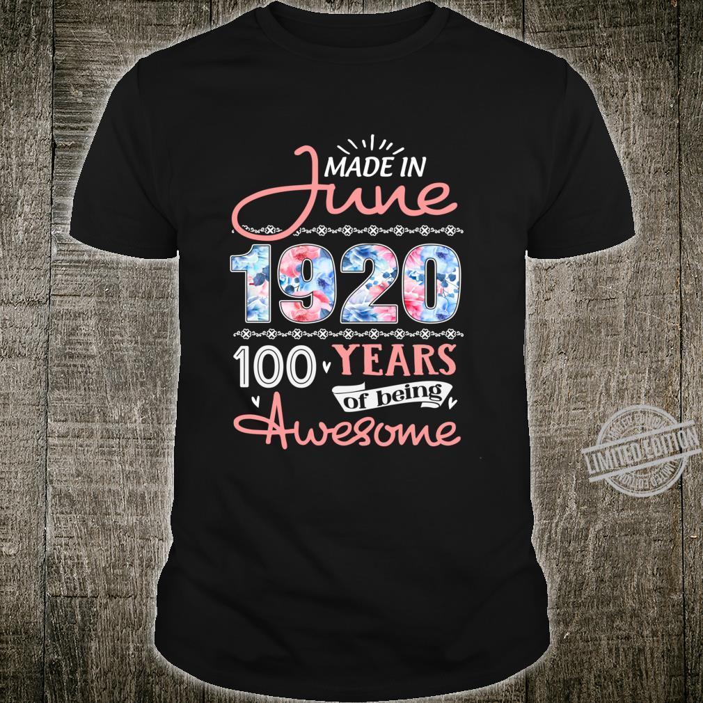 Birthday Floral Born in June 1920 Langarmshirt Shirt