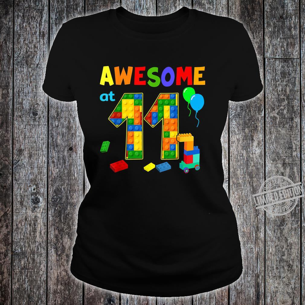 Birthday Party For Awesome At 11 Blocks Shirt ladies tee