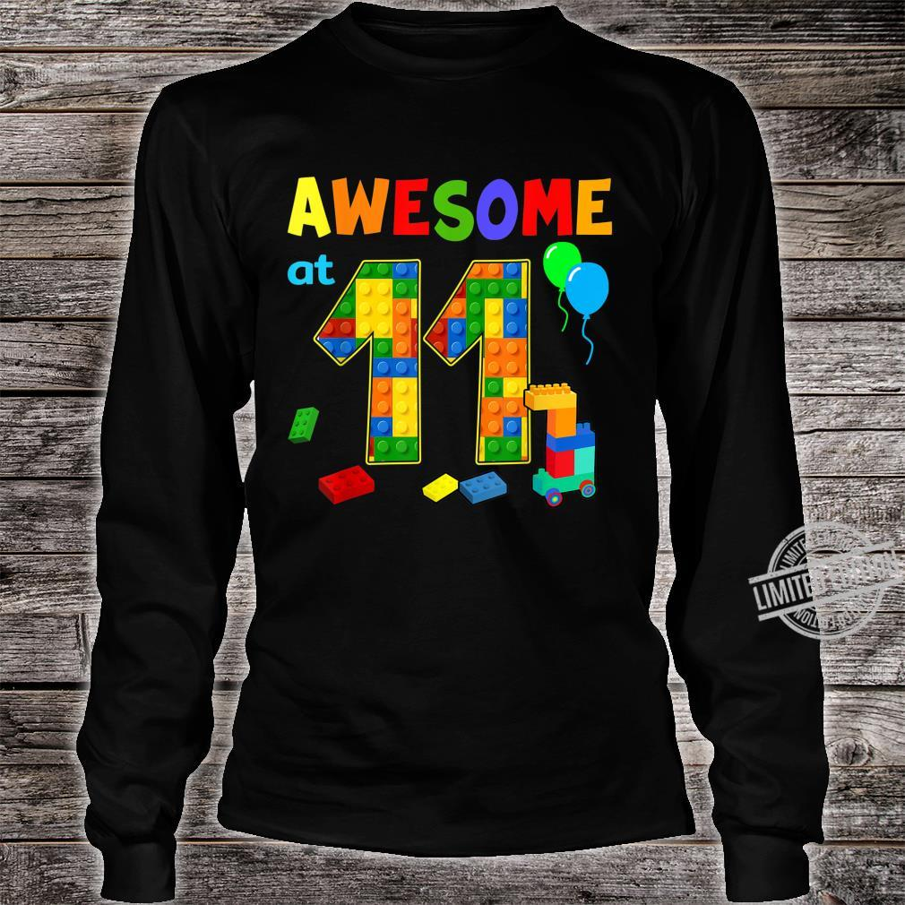 Birthday Party For Awesome At 11 Blocks Shirt long sleeved