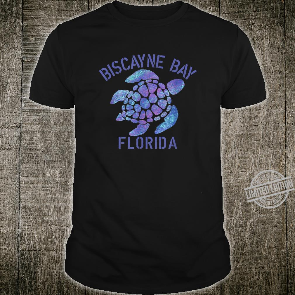 Biscayne Bay, FL Beach Design Tribal Turtle Shirt