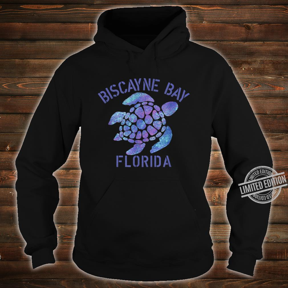 Biscayne Bay, FL Beach Design Tribal Turtle Shirt hoodie