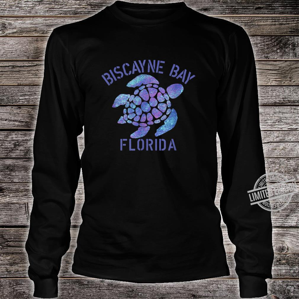 Biscayne Bay, FL Beach Design Tribal Turtle Shirt long sleeved