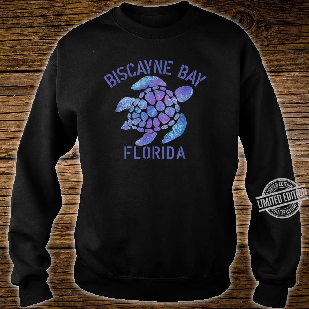 Biscayne Bay, FL Beach Design Tribal Turtle Shirt sweater