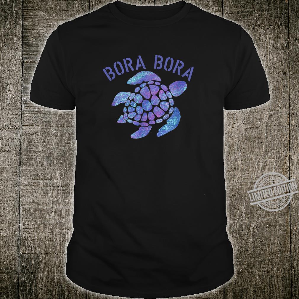 Bora Bora Beach Design Tribal Turtle Shirt