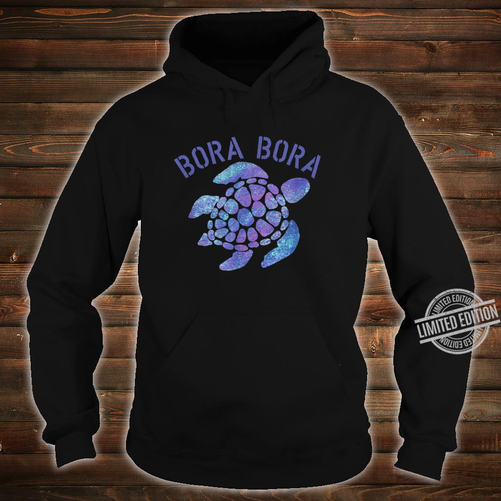 Bora Bora Beach Design Tribal Turtle Shirt hoodie
