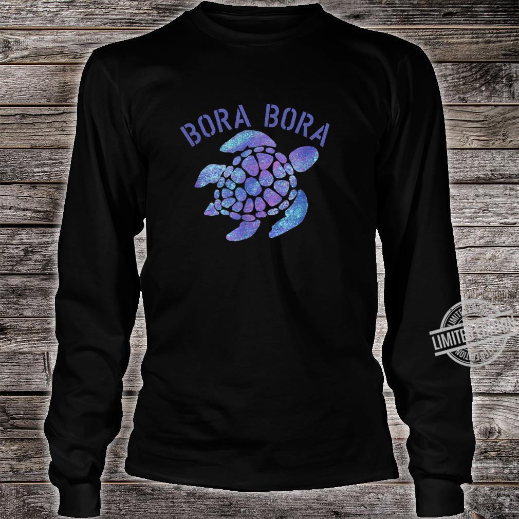 Bora Bora Beach Design Tribal Turtle Shirt long sleeved