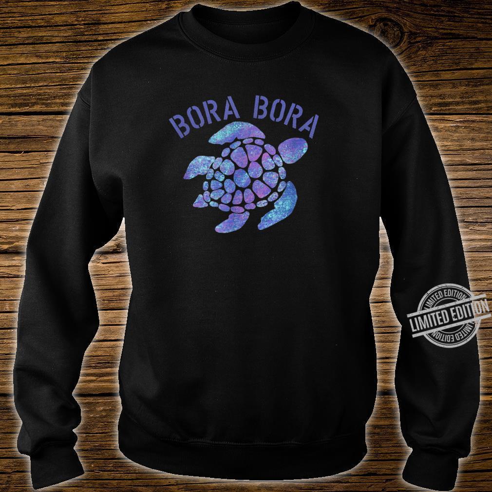 Bora Bora Beach Design Tribal Turtle Shirt sweater
