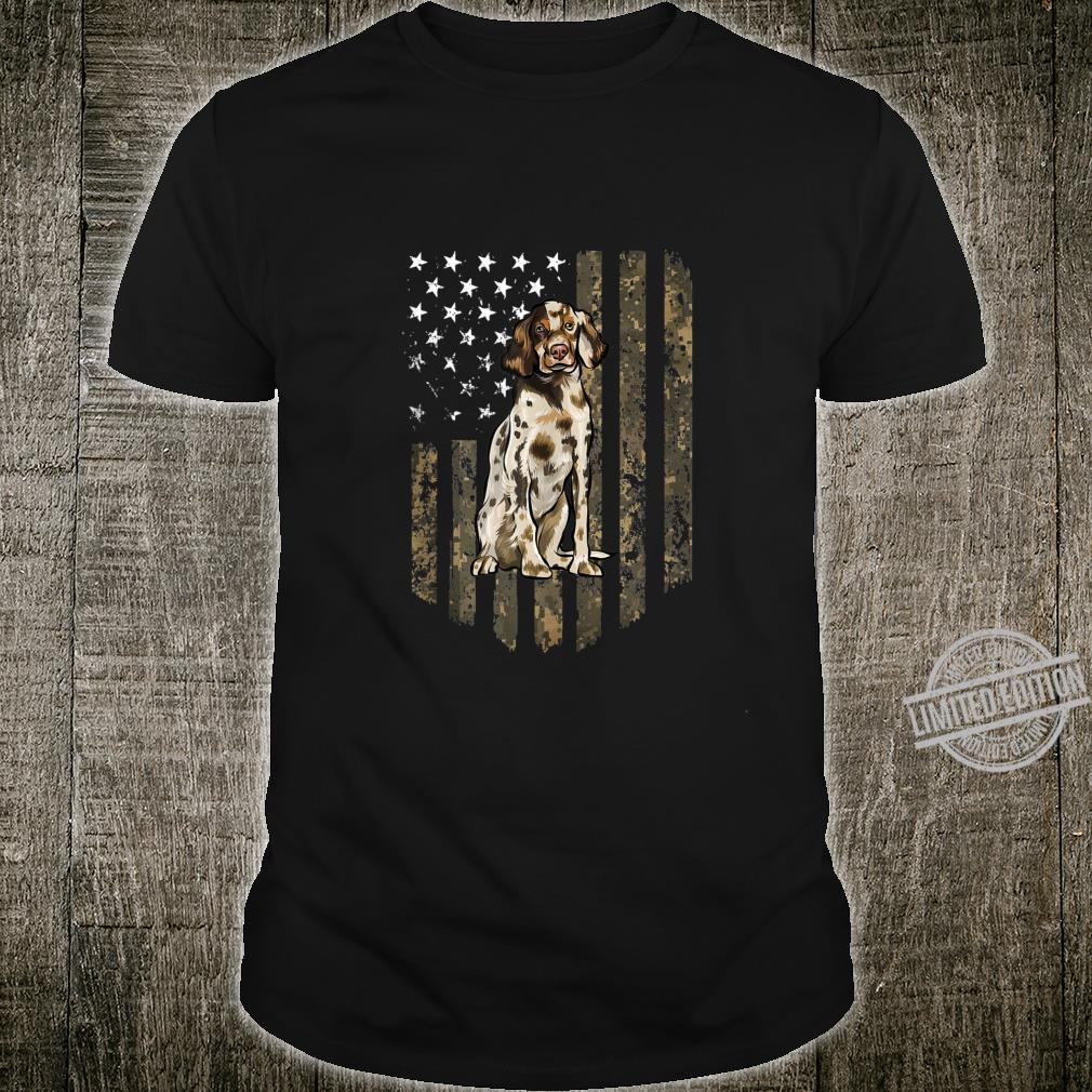 Camo American Flag English Setter 4th Of July USA Shirt