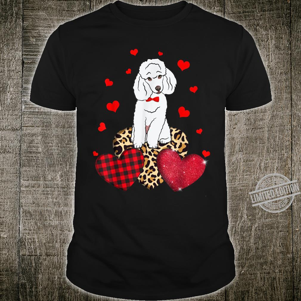 Cute Poodle With Leopard Red Plaid Heart Ideas Shirt