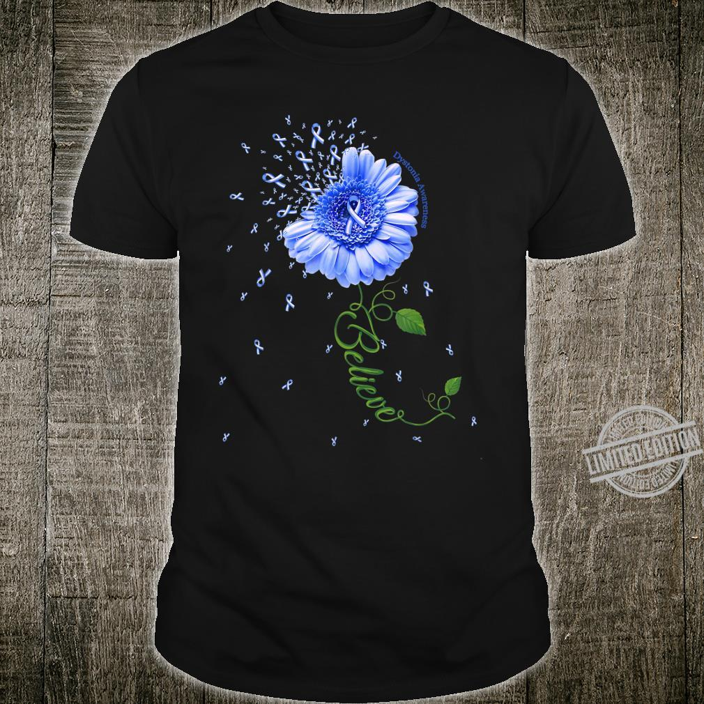 DYSTONIA AWARENESS Daisy Ribbon Believe Shirt