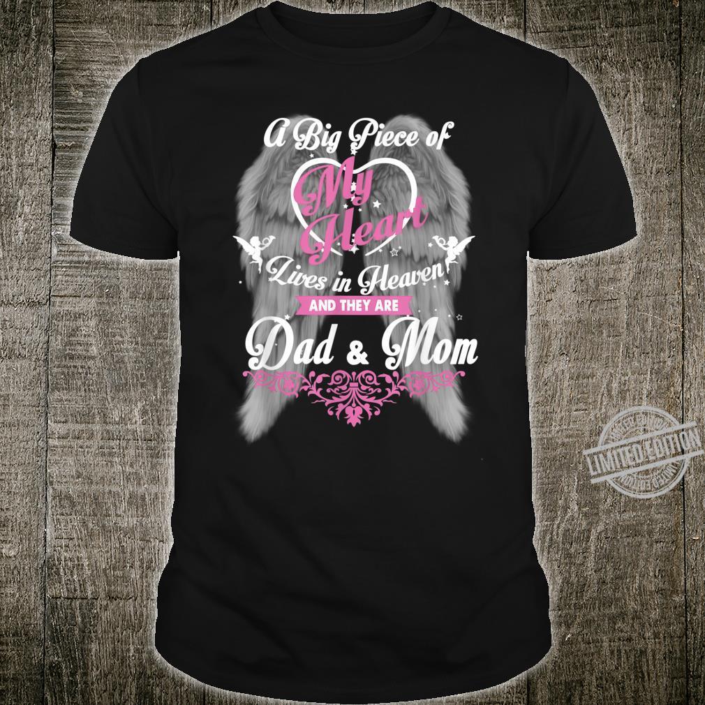 Dad & Mom Guardian Angels Loss Dad and Mom Shirt