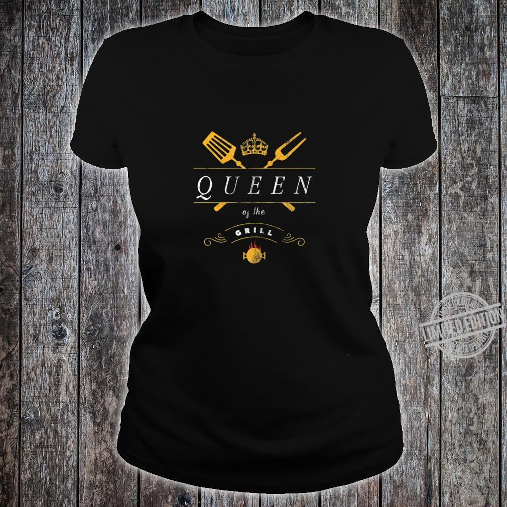 Damen Grill Queen Grillmeister Grillen Für Frauen Shirt ladies tee