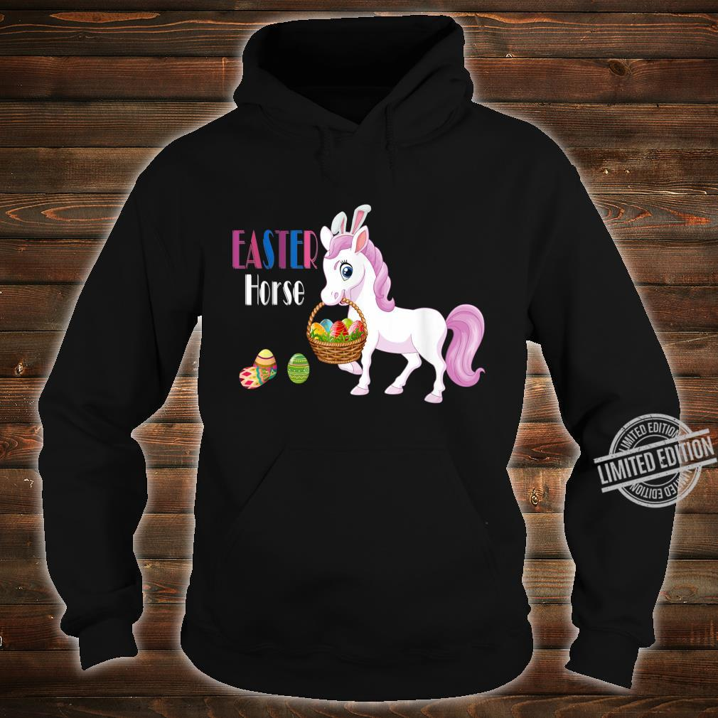 Easter Horse Bunny Basket Eggs Easter Shirt hoodie