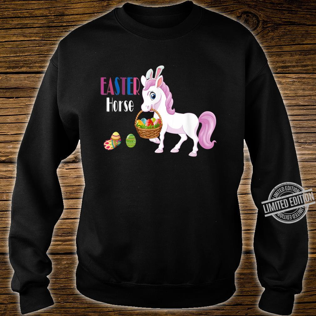 Easter Horse Bunny Basket Eggs Easter Shirt sweater