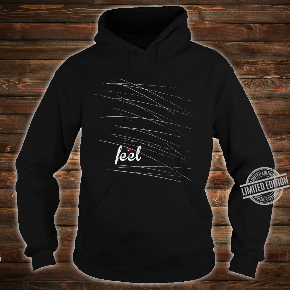 Feel Emo, gothic, nu goth mit einem Tropfen Blut Shirt hoodie