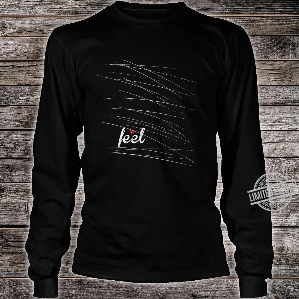 Feel Emo, gothic, nu goth mit einem Tropfen Blut Shirt long sleeved