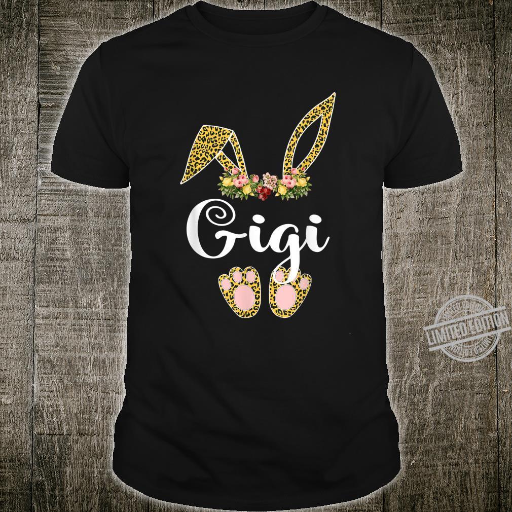 Flower Leopard Bunny Gigi Easter Day Shirt