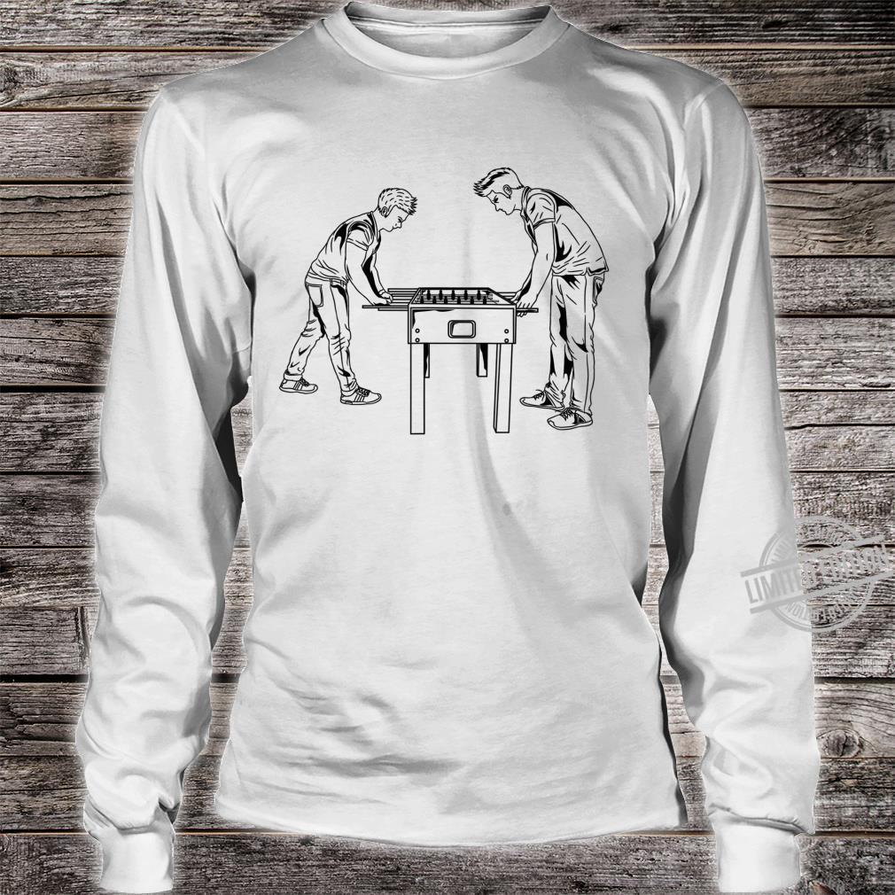 Football Table Player Foosball Soccer Game Hustler Shirt long sleeved
