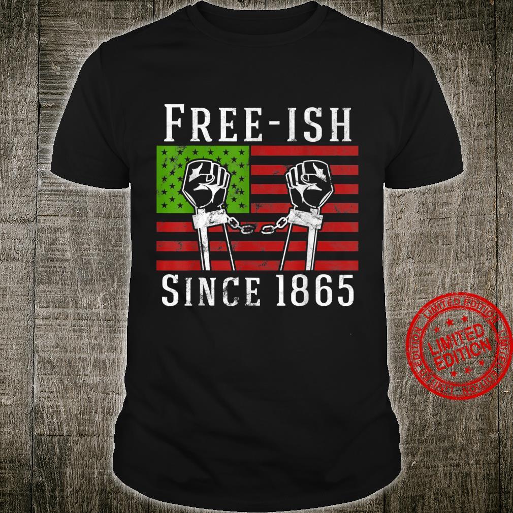 Frei seit 1865 Tag des Juni 1865 Schwarzer Stolz Freiheit Shirt