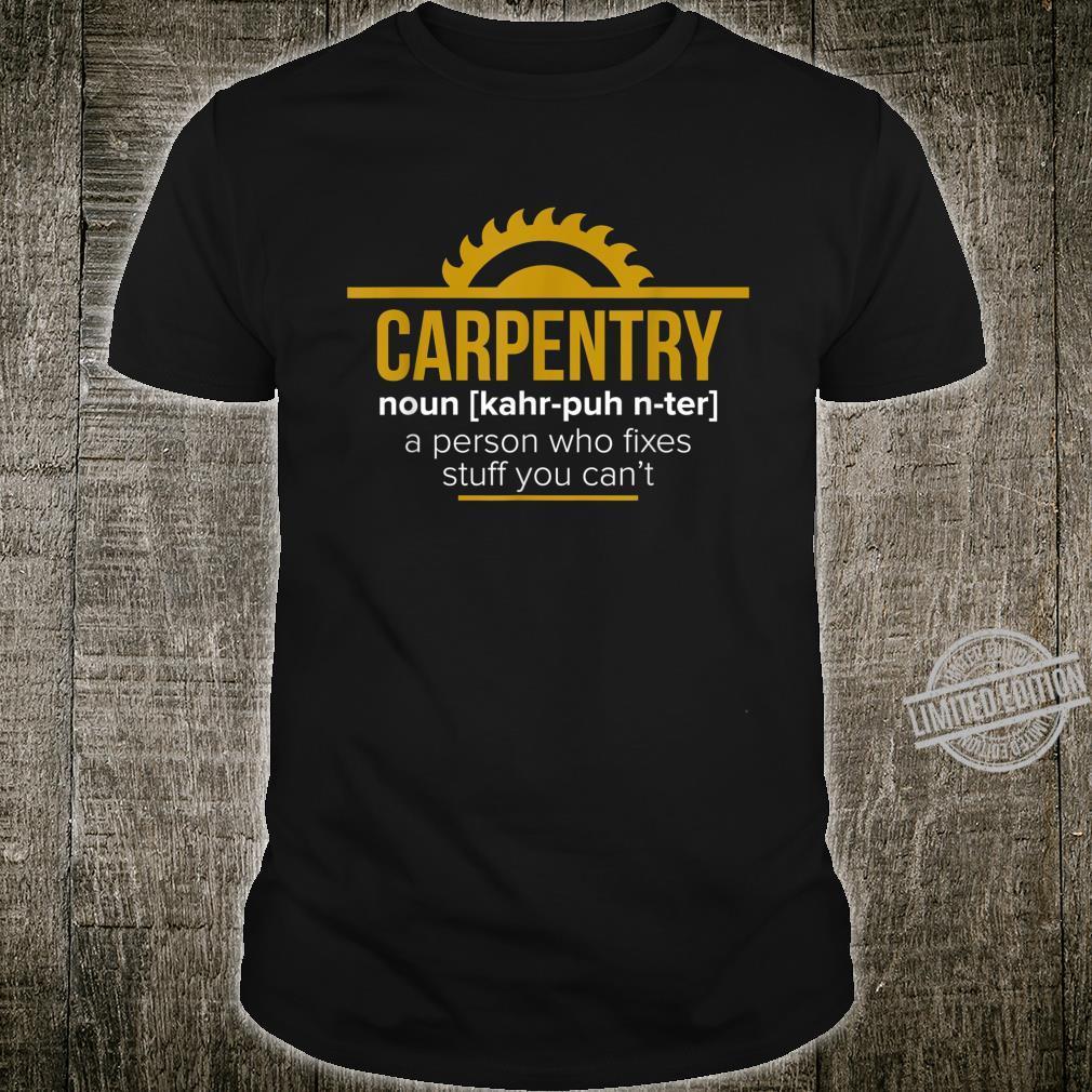 Funny Carpenter Sawdust Woodworker Shirt