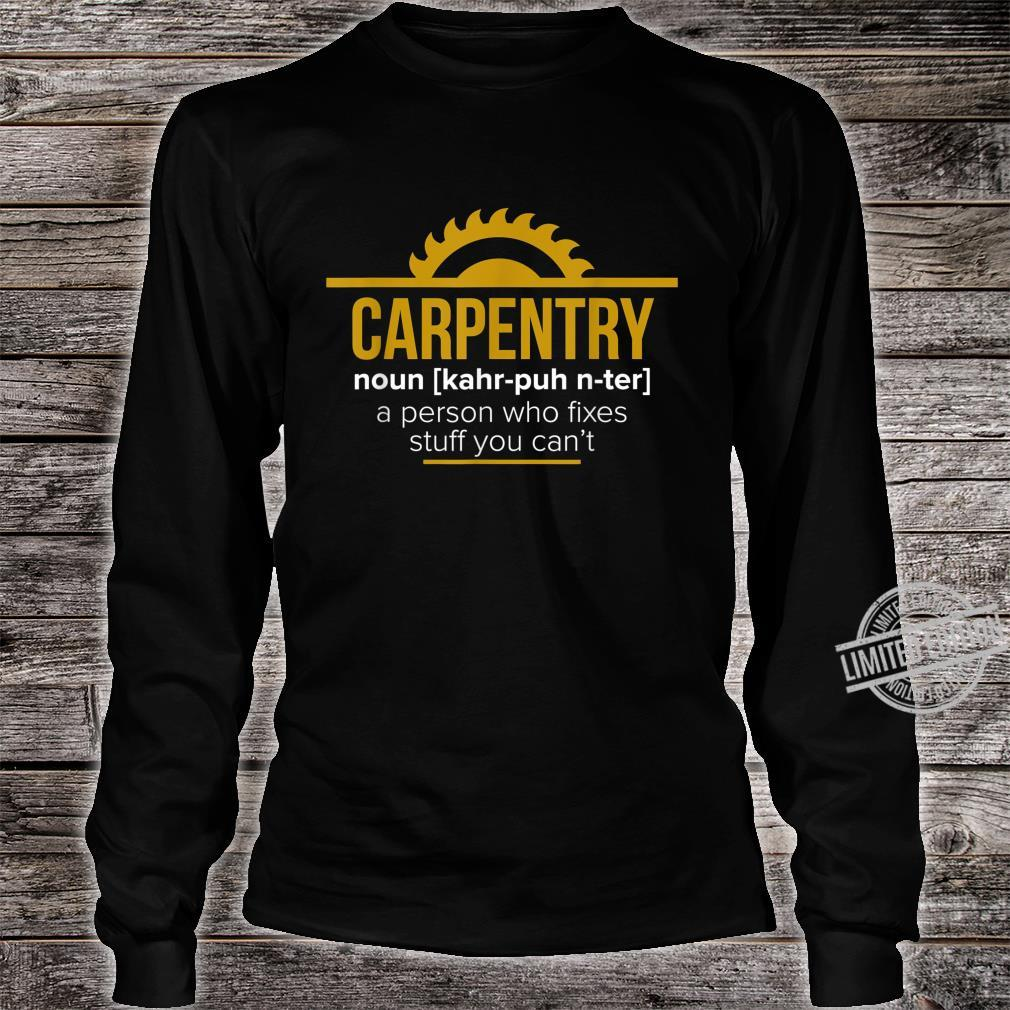 Funny Carpenter Sawdust Woodworker Shirt long sleeved