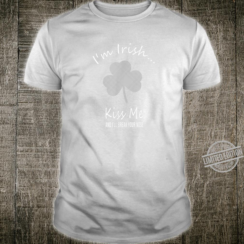 Funny St Paddy's day Green Plaid Shamrock Clover Design Shirt