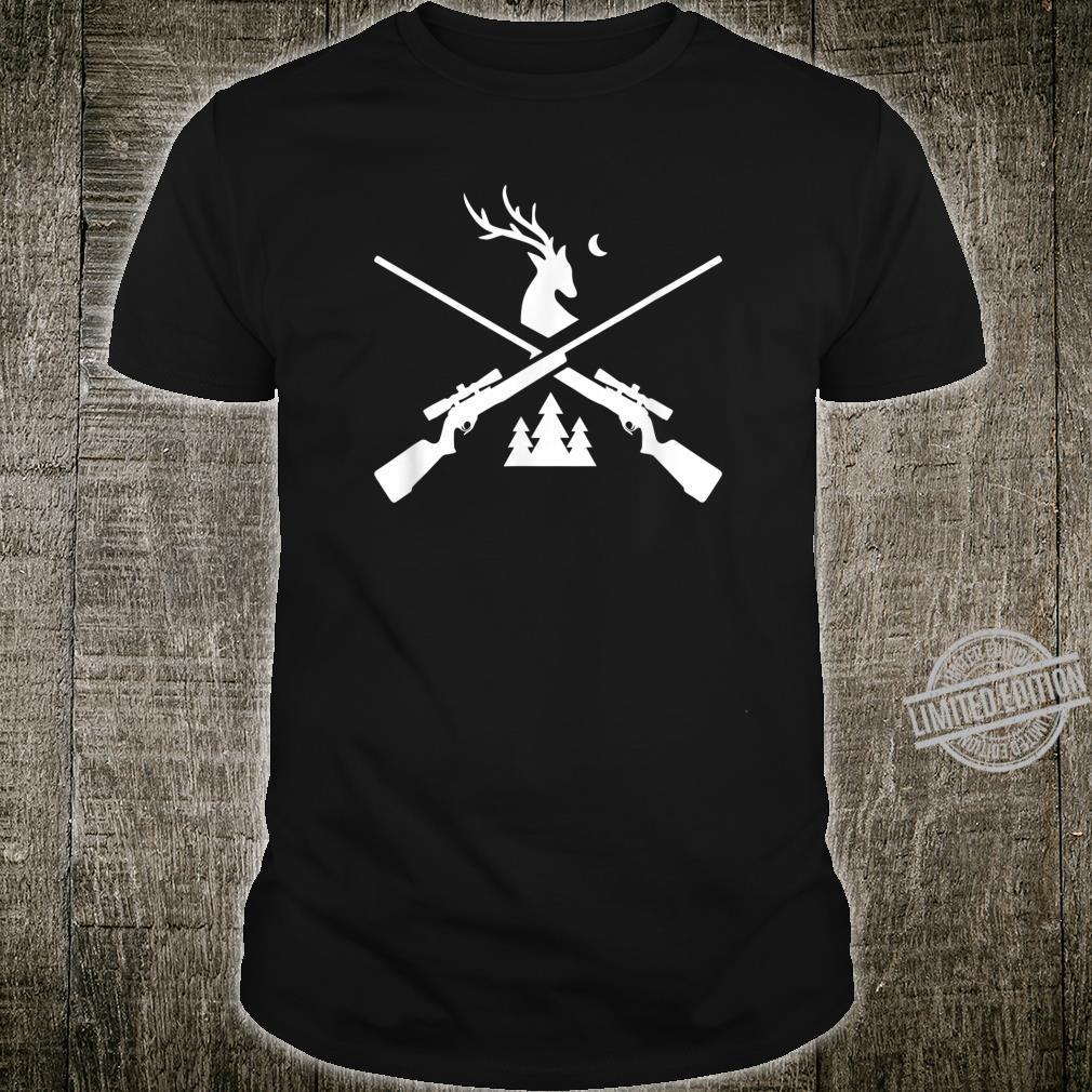 Gewehr Hirsch Jagd für Jäger Hirsch und Bäume Grafik Shirt